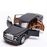 Diecast Model Car 1:24 Diecast Alloy Car Modelo de automóvil para Rollos para Royce para Phantom Metal T-Oy Coche Ruedas Simulación Sound Light Pull Back Coche (Color: Rojo) wmpa (Color : Black)