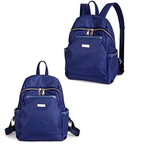 Beauty Case da Viaggio BorsaNylon oxford tela zaino spalla femminile grande capacità collegio vento casual blu selvaggio grande