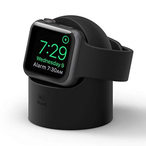 elago W2 Stand Apple Watch Ladestation Ständer Kompatibel mit Apple Watch Series 6, SE (2020) / Series 5 / Series 4 / Series 3 / Series 2 / Series 1 / 44mm / 42mm / 40mm / 38 mm (Schwarz)