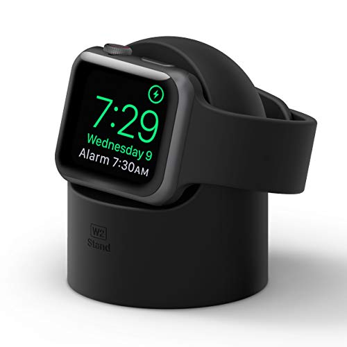 elago W2 Soporte Apple Watch Compatible con Apple Watch Series 6, SE (2020), 5, 4, 3, 2, 1 / 44mm, 42mm, 40mm, 38mm y el Modo de Nightstand (Negro)