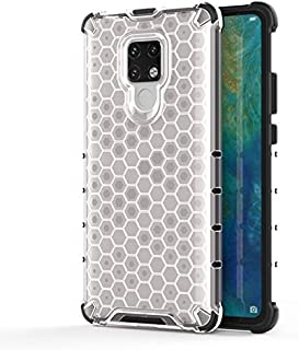 Fashion Phone case for Huawei Mate 20 X,Fashion Shockproof Honeycomb Design PC + TPU Protective Case (Color : Clear)