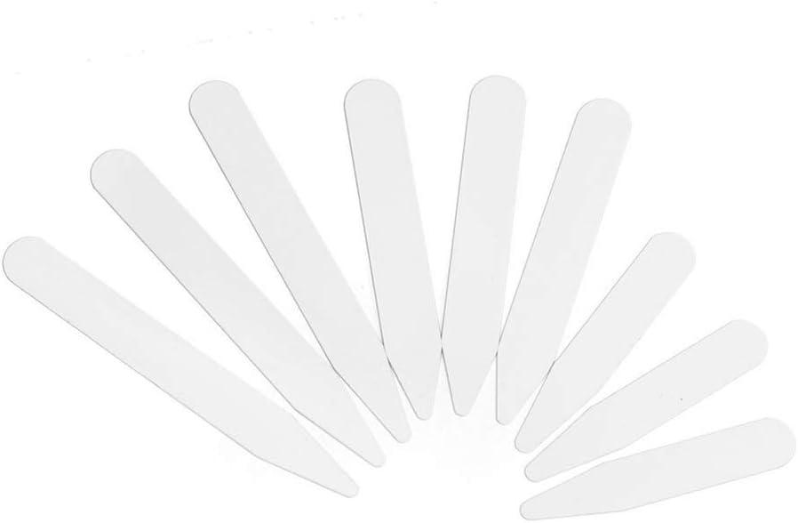 Nubstous 200Pcs Plastic White Collar Stays Collar Bones Collar Stiffeners in 3 Sizes