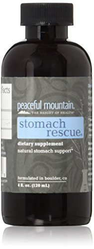 Peaceful Mountain Stomach Rescue - Natural Stomach Support & Immunity Booster - with Elemental Silver & Peppermint Essential Oil to Help Ease Stomach Discomfort - 4 fl. Oz.