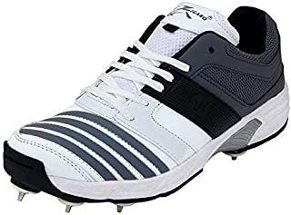ZIGARO Z 20 Grey Full Spikes Cricket Shoe