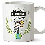 MUGFFINS Taza Cocinera (Mejor del Mundo) - Regalos Originales y Divertidos de Cocina