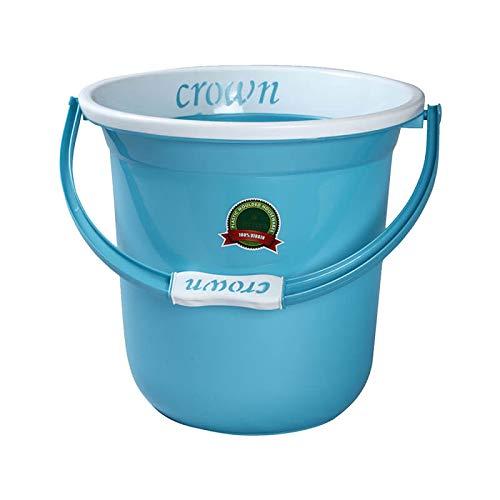 Ivanic Crown Unbreakable Strong Plastic Bathroom Bucket 18 LTR (Multicolour)