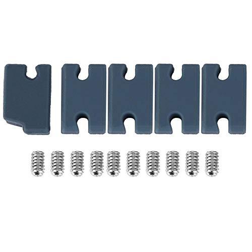 5 PCS/Set Kit de compatibilidad de Aleta de PVC Accesorios de Tabla de Surf de Relleno de pestañas FCS 2 Ajustador de timón Kit de compatibilidad de Aleta Ajustador de Aleta de Cola