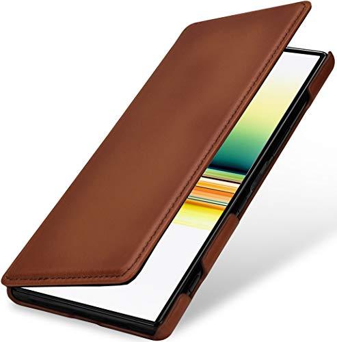 StilGut Funda de Piel Book Type para Sony Xperia 1 Carcasa de...