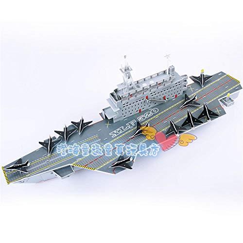 Juguete educativo serie militar portaaviones barco 3D papel DIY rompecabezas modelo kits niños niño juguete de regalo