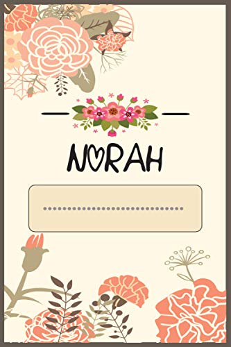 Norah Journal: Personalized name journal for Women/Girls, personalized Journal for Norah, Norah's Personal Writing Journal, Lined 110 Pages For Writing And Note Taking