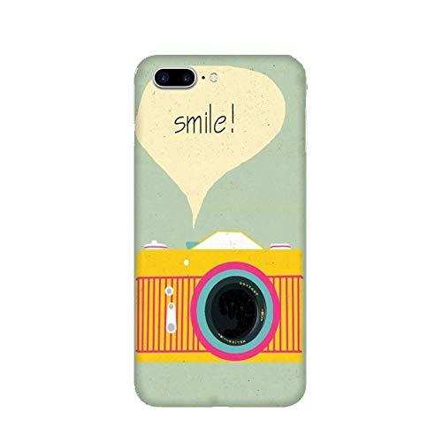 Funda iPhone 7 Plus Carcasa Apple iPhone 7 Plus Foto de la pasion sonríe cámara / Cubierta Imprimir también en los lados / Cover Antideslizante Antideslizante Antiarañazos Resistente a golpes Prot