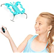 Force1 Monarch Butterfly Drone for Kids - Hand Controlled Mini Indoor Drone, LED Flying Toy with Palm Sensor Remote Control (Blue)