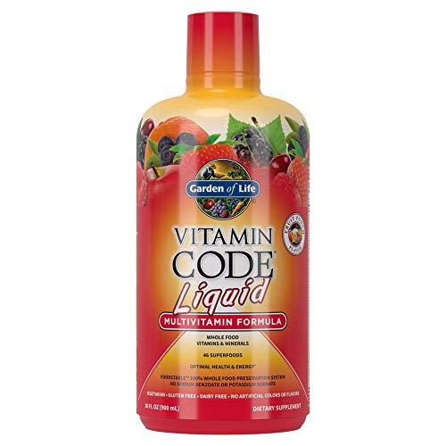 Garden of Life Multivitamin - Vitamin Code Liquid Raw Whole Food Vitamin, Vegetarian Supplement, No Preservatives, Fruit Punch, 30oz Liquid Packaging May Vary