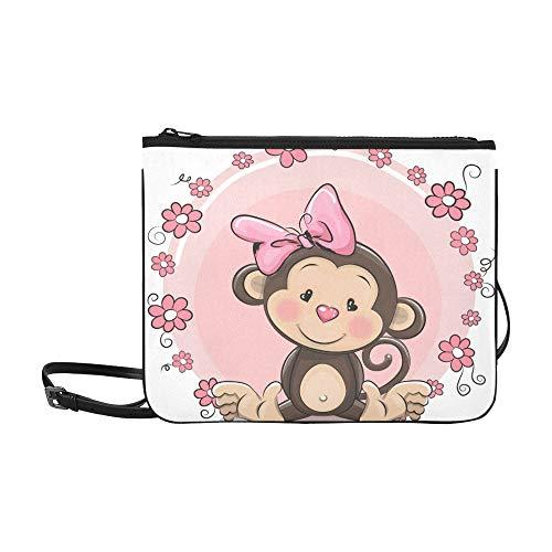 Gruß-Karte niedliche Cartoon-Affe-Mädchen-Gewohnheits-hochwertige Nylon-dünne Handtasche Umhängetasche Umhängetasche