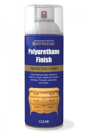 Rust-Oleum sehr robuste Polyurethan Klarlack Aerosol Spray Paint matt, farblos, 1 Packung
