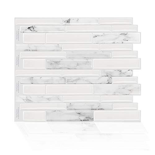 GuoQiang Zhou Adhesivo impermeable para pared de azulejos de vinilo, autoadhesivo, para decoración del hogar, 10 unidades