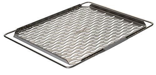 Lares - Edelstahl-Backblech mit ausziehbaren Bügeln - mit Lochung in Wellenform - Maße der Backfläche: 32 x 47cm - Made in Germany