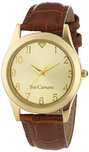 Ives Camani IT YC1058-C Orologio da Polso, Quadrante Analogico da Donna, Cinturino in Pelle, Colore Marrone