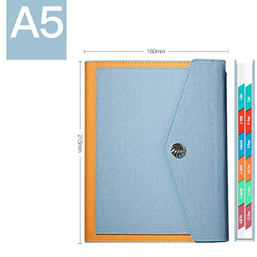 2020 calendario de hoja de programación de registro exquisita obra literaria manual de cuello blanco la juventud literaria (Color : Light blue)