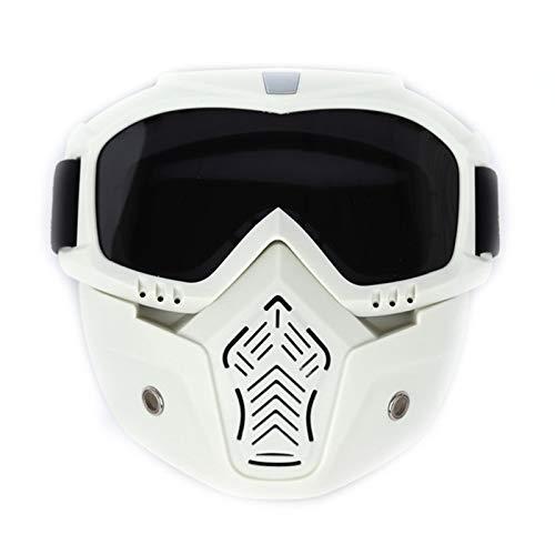 CZX Occhiali di Guida all'aperto Occhiali off-Road Moto Antisdrucciolevoli Moto Occhiali a Specchio Rimovibili Anti-UV Bici Noleggio Regolabili,C