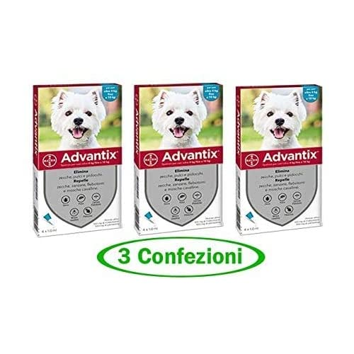 advantix Spot-ON per Cani Oltre 4 kg Fino a 10 kg - Offerta 3 Confezioni