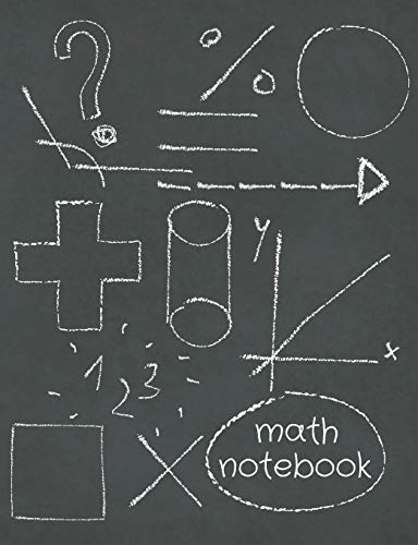 Math Notebok: Grid Paper Composition Notebook For Math Students, Perfect For School Notes