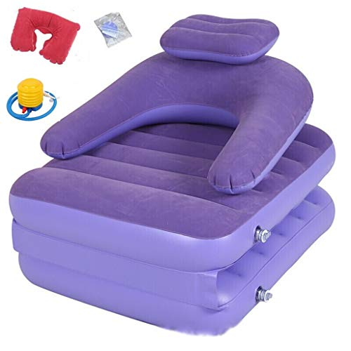 Opblaasbare Recliner Single Opblaasbare Sofa Bed stroomden Opblaasbare Recliner Klapstoel Dual-use Slaapbank Purple