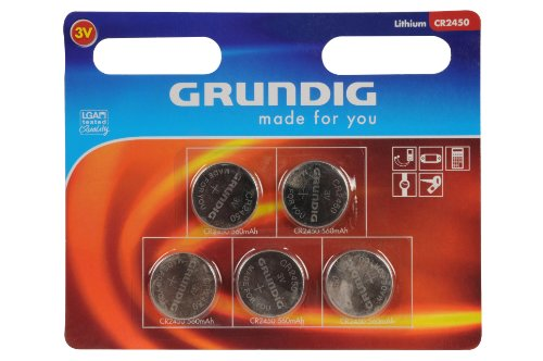 Grundig CR 2450 au lithium 3 V - lot de 5 piles