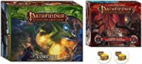 Bundle of Pathfinder Adventure Card Game Core Set and The Curse of The Crimson Throne Expansion Plus Two Treasure Chest Buttons [並行輸入品]