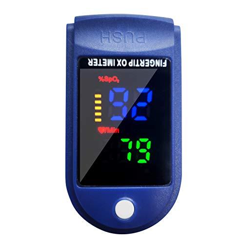 Entweg Saturimetro, saturazione di Ossigeno da Polso da Dito rilevamento della frequenza cardiaca Misurazione Rapida in 10 Secondi e Funzione di Allarme con spegnimento Automatico