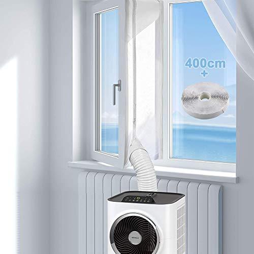 AirLock 4m Joint de Fenêtre pour Climatisation Mobiles Kit Calfeutrage Climatiseur et Déshumidificateurs Pour et Déshumidificateurs Kit de calfeutrage