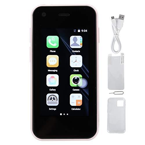 SHYEKYO XS11 Smartphone, 2,5 Pulgadas 3G Mini WiFi Smartphone Sistema Inteligente de Cuatro núcleos Teléfono móvil pequeño Tarjetas duales Doble Modo de Espera, para Sistema Android(Rosa)