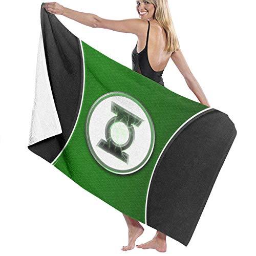 xcvgcxcvasda ANMkmer Green LAN-Tern Pool Strandtuch Mikrofaser Badetücher Schnelltrocknendes Handtuch Decke für die Reise Schwimmbad Yoga Camping Gym Sport
