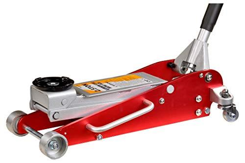 Pro-Lift-Werkzeuge Aluminium-Stahl-Wagenheber 2,5t Rangierwagenheber Alu flach Doppelkolben 2,5 t professionell hydraulischer floor jack 2500kg Werkstatt