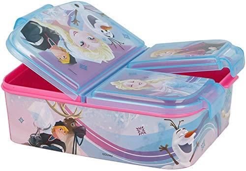 CM Sandwichbox mit 3 Fächern für Kinder – Lunchbox – Brotdose – dekorierte Brotdose (Azul-Fro)