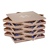 Puzzle Sorting Trays with Lid, 8 Trays Jigsaw Puzzle Sorters 10 x 10 inch, Puzzle Accessories Fit 1500/2000 Pieces Puzzle Gift for Puzzlers, Brown
