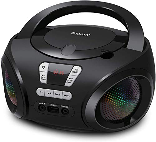 G Keni Portable CD Player Boombox with FM Radio/USB/Bluetooth/AUX Input and...