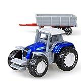 daidai Juguete de camión agrícola de fundición a presión Mini Modelo de automóvil Modelo de vehículo de ingeniería Tractor de vehículo de ingeniería Tractor Modelo de Juguete para niños