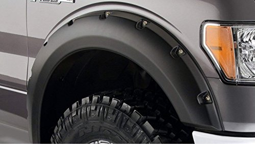 Bushwacker 20079-02 Pocket Style Black Fender Flares for 2009-2014 Ford F-150 (Excludes Raptor) - Front Pair