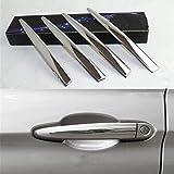 YIWANG 4 piezas de acero inoxidable 304 cromo exterior de la manija de la puerta del exterior del pomo de la puerta para 1 3 4 series X3 X4 X5 X6 accesorios de auto
