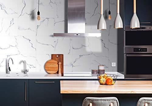 EasyLife 10-teilige Matte Wandfliesenaufkleber für Wohnkultur, 20 x 20 cm, Wasserdichte und Selbstklebende Aufkleber für Küche und Bad (D02)