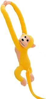 Tcplyn Premium Quality 1PCS Stuffed Monkey Plush Toy Long Arm Hanging Gibbons Kids Birthday Gift for Kids Yellow
