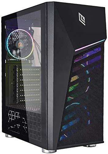 Noua Diamond C3 Black Case ATX per PC Gaming 0.6MM SPCC 3*USB3.0 2.0 con 3 Ventole Triplo Halo RGB Addressable 5V e Strip LED ADD-RGB Pannello Laterale in Vetro Temperato (AxPxL 455x365x210 mm)