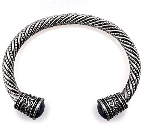URBANTIMBER Wikinger Armreif Keltische Knoten - Silber oder Gold/Bronze