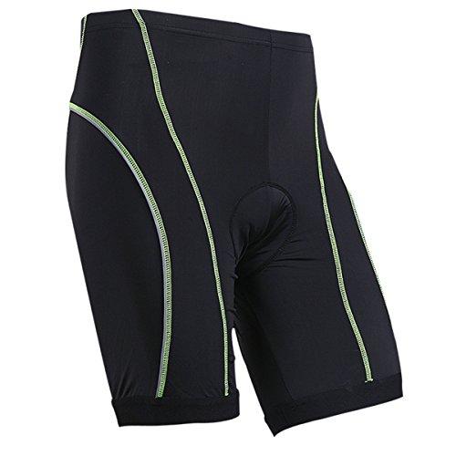 Xcellent Global Professional Gel Imbottito Coolmax–Pantaloncini da Ciclismo Bicicletta Pantaloni con Striscia Riflettente per Una Migliore Notte Ciclismo–M