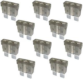 10 x Flachstecksicherung   Sicherung 2A / 32V / grau