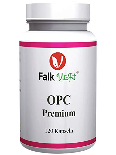 Falk VitaFit OPC Premium I hochdosiertes Traubenkernextrakt I 332,5mg OPC pro Kapsel I aus französischen Trauben I 120 Kapseln