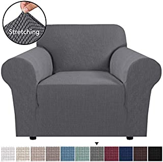 H.VERSAILTEX Stretch Chair Slipcover Sofa Cover Furniture Protector Cover Luxury Lycra High Spandex Small Checks Knitted Jacquard Sofa Cover Chair Covers for Living Room (Armchair 32