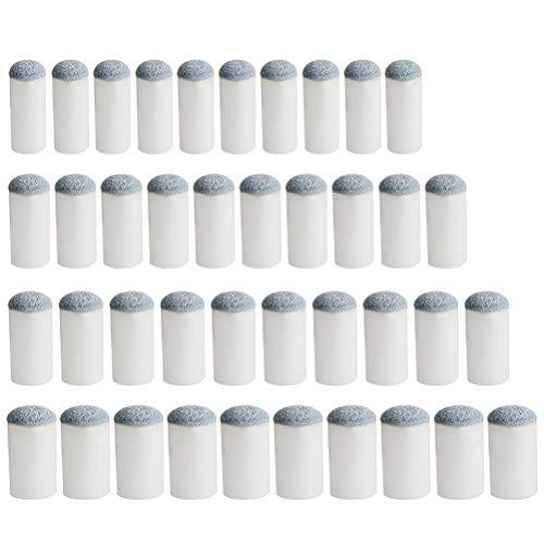 pengxiaomei 40 puntas de taco de billar de repuesto para taco de billar, 4 tamaños (9 mm/10 mm/12 mm/13 mm, cada tamaño 10 unidades)
