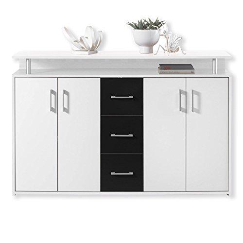 ROLLER Sideboard - schwarz-weiß - 139 cm